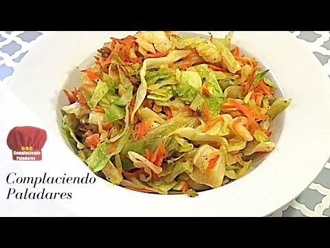 COMO HACER REPOLLO FRITO receta saludable   fry Cabbage - COMPLACIENDO PALADARES