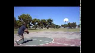 "Basketball - Half Court ""Chain Net"" Swishes * 2 in a Row * Oct. 4th 2013  Fun Phoenix, AZ"