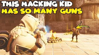 This Hacking Kid Has So Many Modded Guns! 😱 (Scammer Gets Scammed) Fortnite Save The World