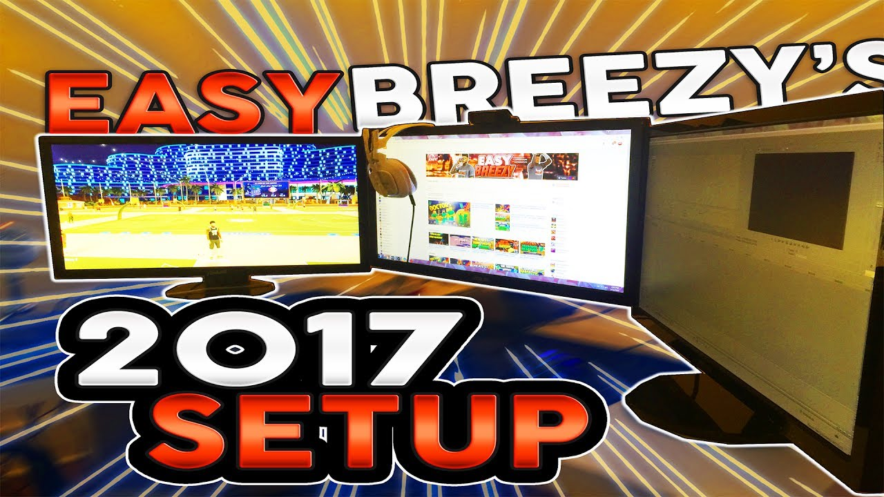EASY BREEZY'S 2017 GAMING SETUP!!🔥 14 YEAR OLD SETUP🤑🏆 50K SPECIAL!!