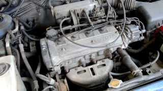 Toyota Corolla 1.3L 4E-FE engine start and sound HD