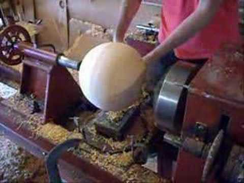 how to turn a ball on a wood lathe 1