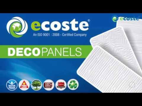 PVC Wall Panel Designs | Ecoste Deco panels !!