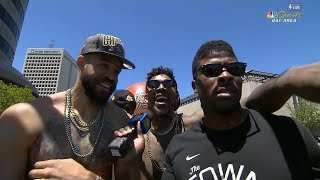 Nick Young & JaVale McGee Interview - 2018 Golden State Warriors Championship Parade