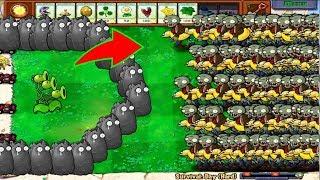 1 Threepeater vs All Zombie Plants vs Zombies