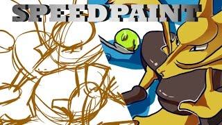 Day 65: Pokemon Alakazam Speedpaint [Sai]