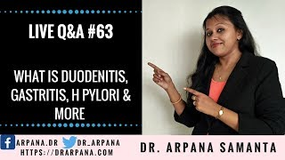 What Is Duodenitis, Gastritis, H pylori & More :  Live Homeopathic Consultation #63