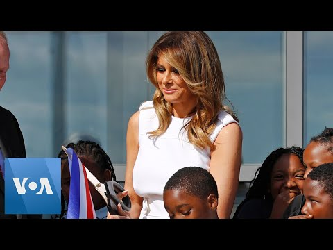 First Lady Melania Trump Cuts Ribbon at Washington Monument