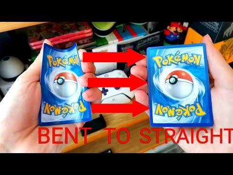 How To Fix Bent Pokemon Cards!