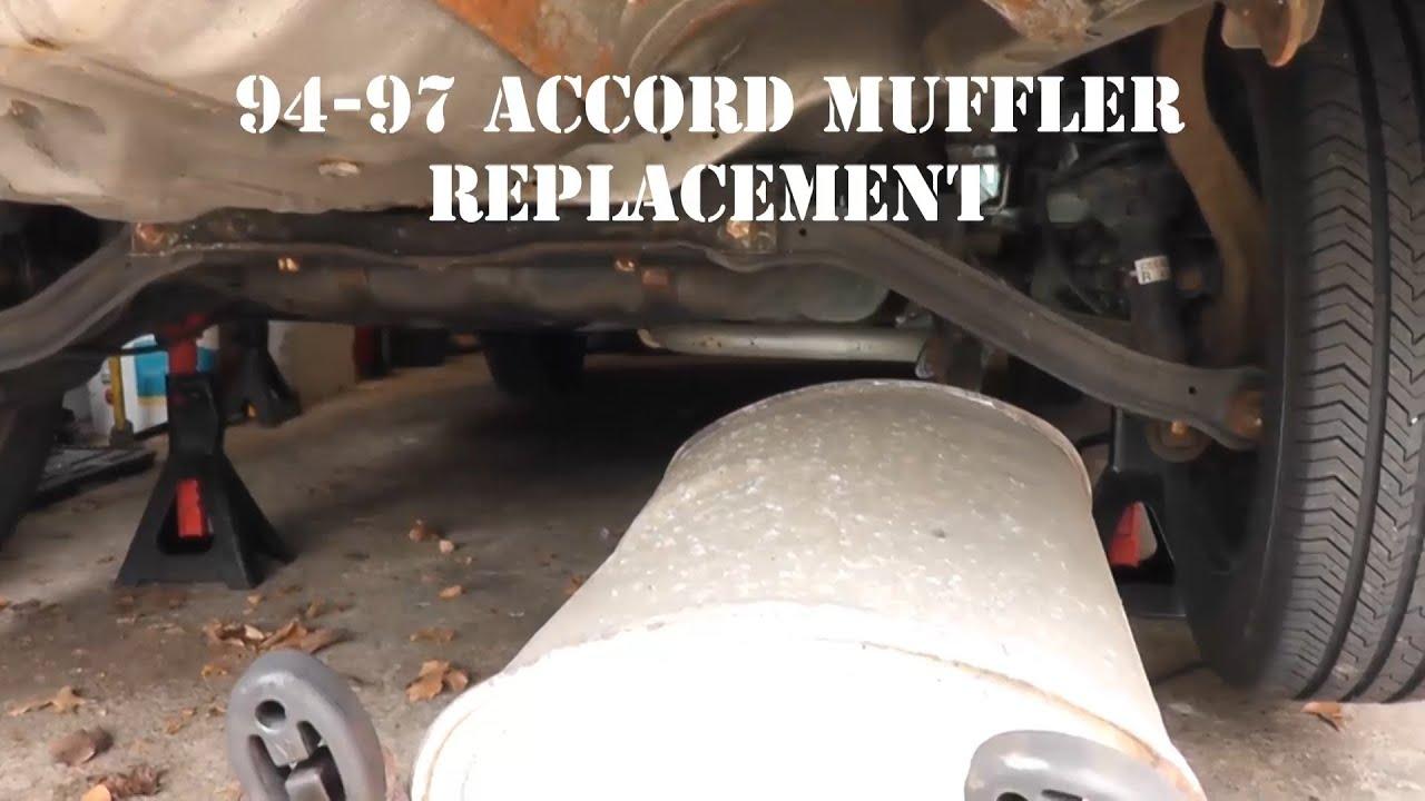 94 97 honda accord muffler replacement youtube 1994 honda accord coupe 1994 honda accord exhaust diagram #26