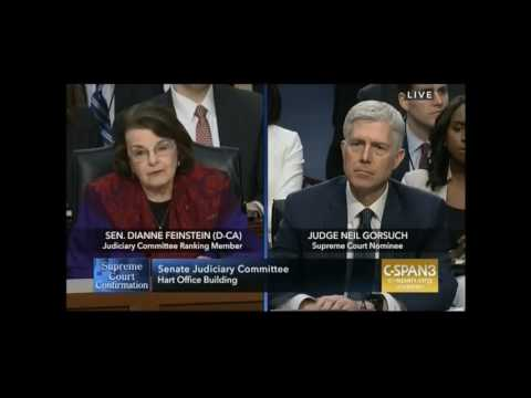 Feinstein Questions Gorsuch, Second Round