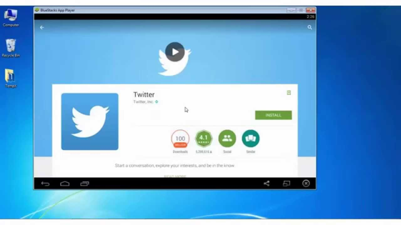 Twitter App for Windows 7/8 1/10 PC Download