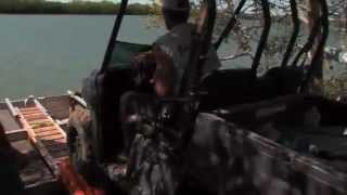 Floating ATVs across the river on a dinghy ► All 4 Adventure TV