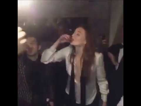 Sophie Turner Dancing to Spice Girls at HER Engagement Party