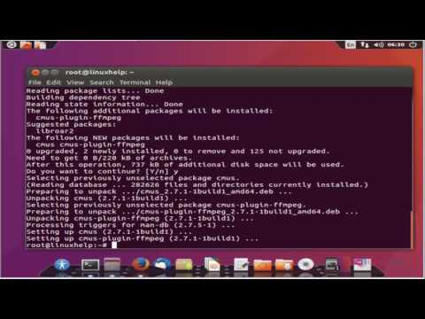 How to install CMUS (C* Music Player) in Linux - YouTube