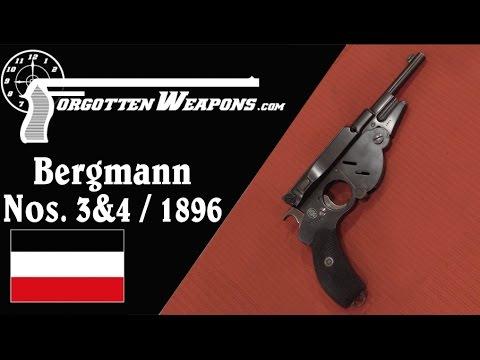 Bergmann No. 3 & No.4 1896 Pistols