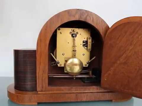 Vintage mauthe mantel clock