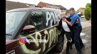 SPRAY PAINT MY DADS £50,000 CAR! *PRANK*