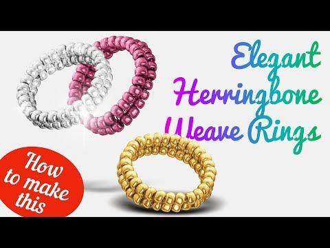 How To Make Elegant Herringbone Weave Rings