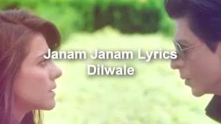 janam janam lyrics dilwale best synchronized