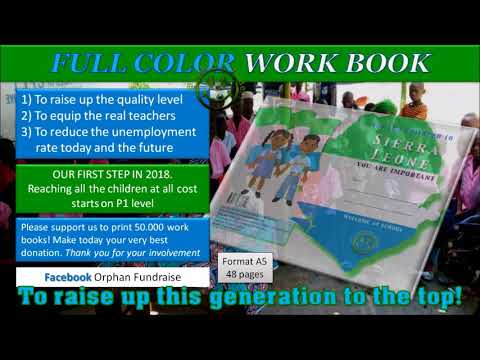 ORPHAN FUNDRAISE PROJECT ROKON WORK BOOK 2018