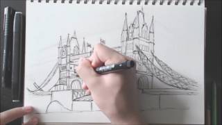 Drawing The Tower Bridge in London #Timelapse