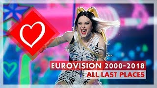 Eurovision 2000-2018 | All Last Places | Semi-Finals & Grand-Finals