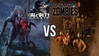Call of Duty Ghosts Extinction vs Black Ops 2 Zombies