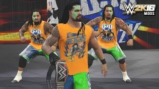 WWE 2K Mods - Roman Reigns Joins the Usos
