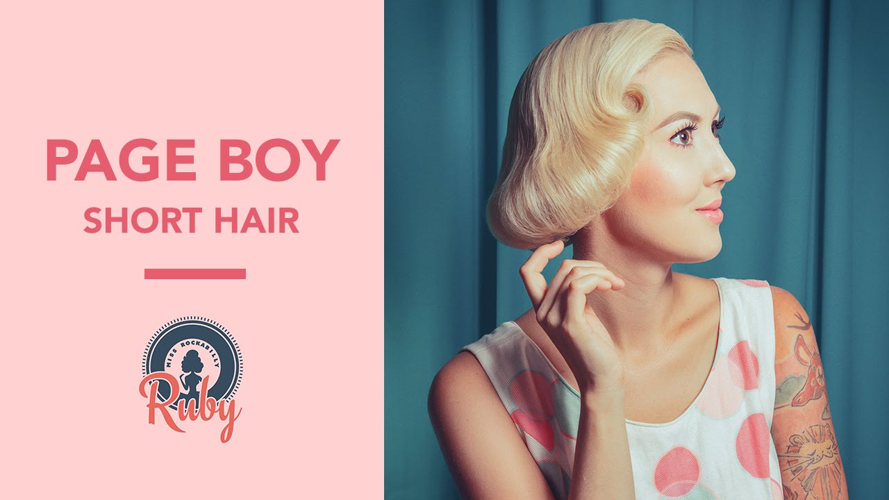 how to achieve a pageboy hairstyle