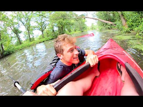 His Kayak Flipped