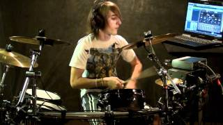 "Lady Gaga ""Monster"" (Drum Cover) Mason VPT Triggering Addictive Drums Electronic drums"