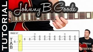 Como tocar Johnny B Good en guitarra tutorial fácil para solo rock