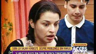 """Maria, sora lui Florin Salam: """"Nu gasesc sensul celor de la protectia copiilor"""""""