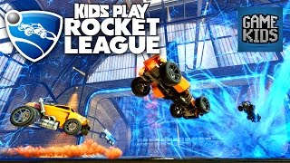 Rocket League Gameplay - Kids Play