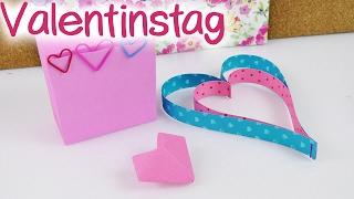 VALENTINSTAG - 3 Last Minute Ideen | Super einfach, schnell & süß | 14.02.2017 LOVE