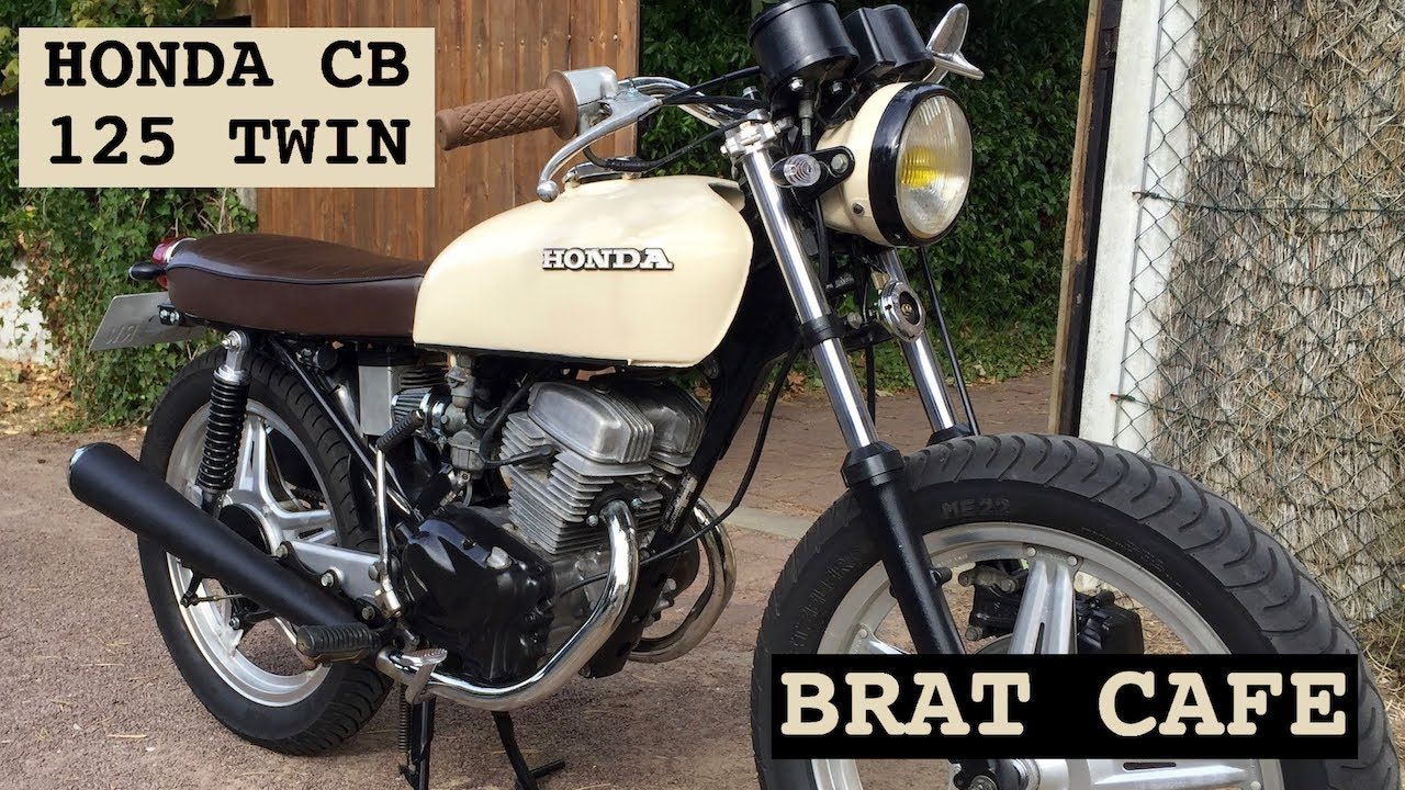 honda cb 125 twin brat cafe youtube. Black Bedroom Furniture Sets. Home Design Ideas
