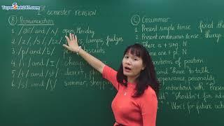 Ôn thi học kỳ I Tiếng Anh lớp 6 - Chương trình mới - Cô giáo : Quang Thị Hoàn