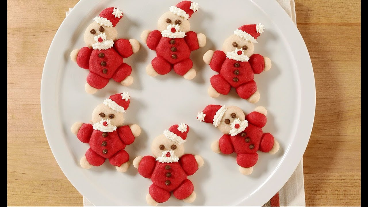 Cute Roly Poly Santa Cookies