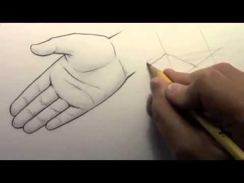 Resim Dersi Karakalemle Kolayca Gerçek El Nasıl çizilir Youtube