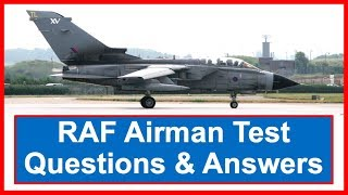RAF AIRMAN TEST Questions and Answers
