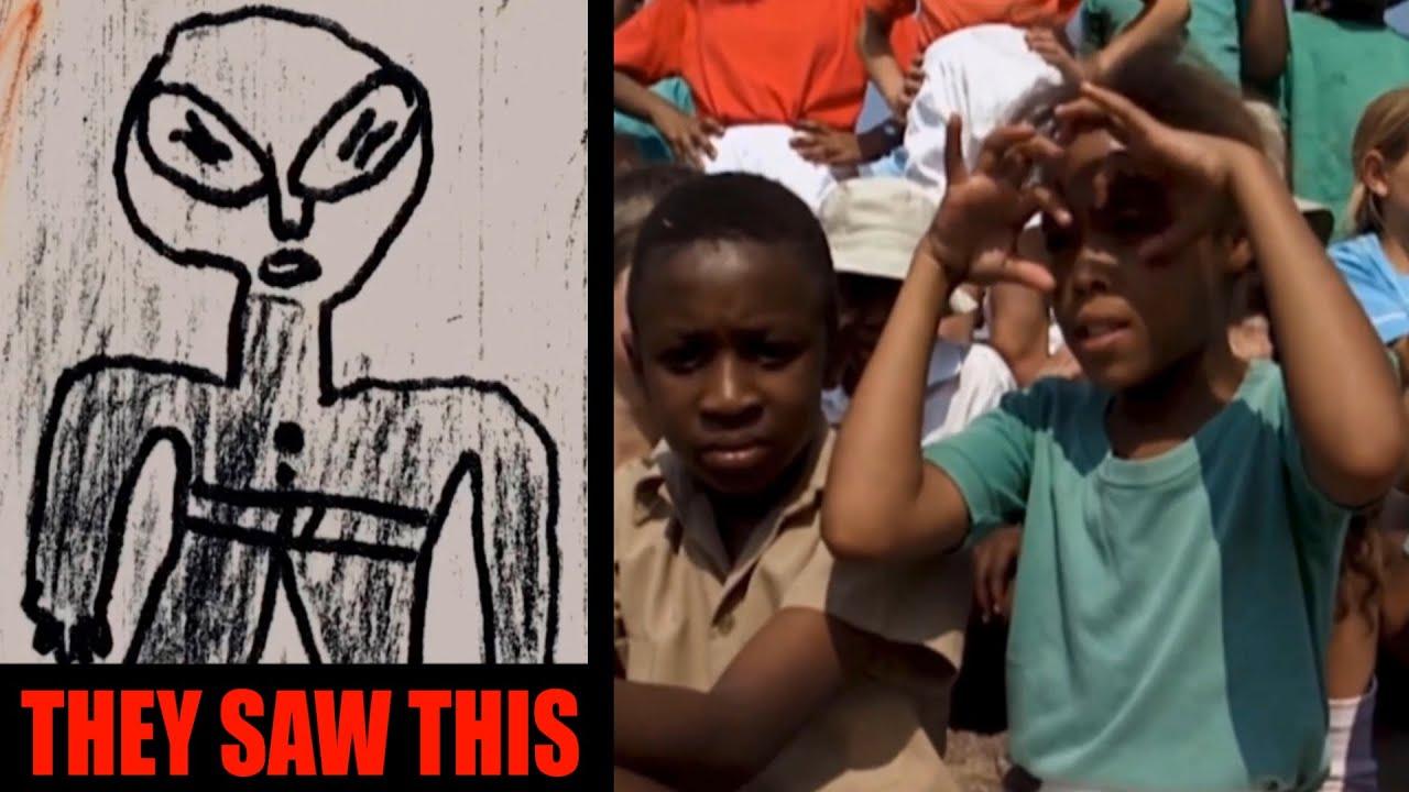Alien Ship Landing in African School: Over 60 Children Witness It