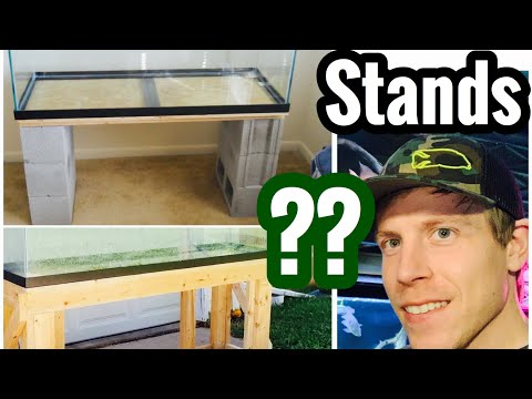 Aquarium Stand Shelving, DIY Wood, Concrete Blocks, Metal?