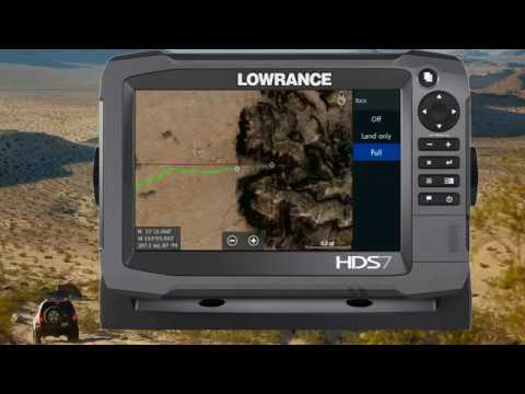 Using Funtreks Series of Lowrance Off Road GPS Maps by Rugged Routes