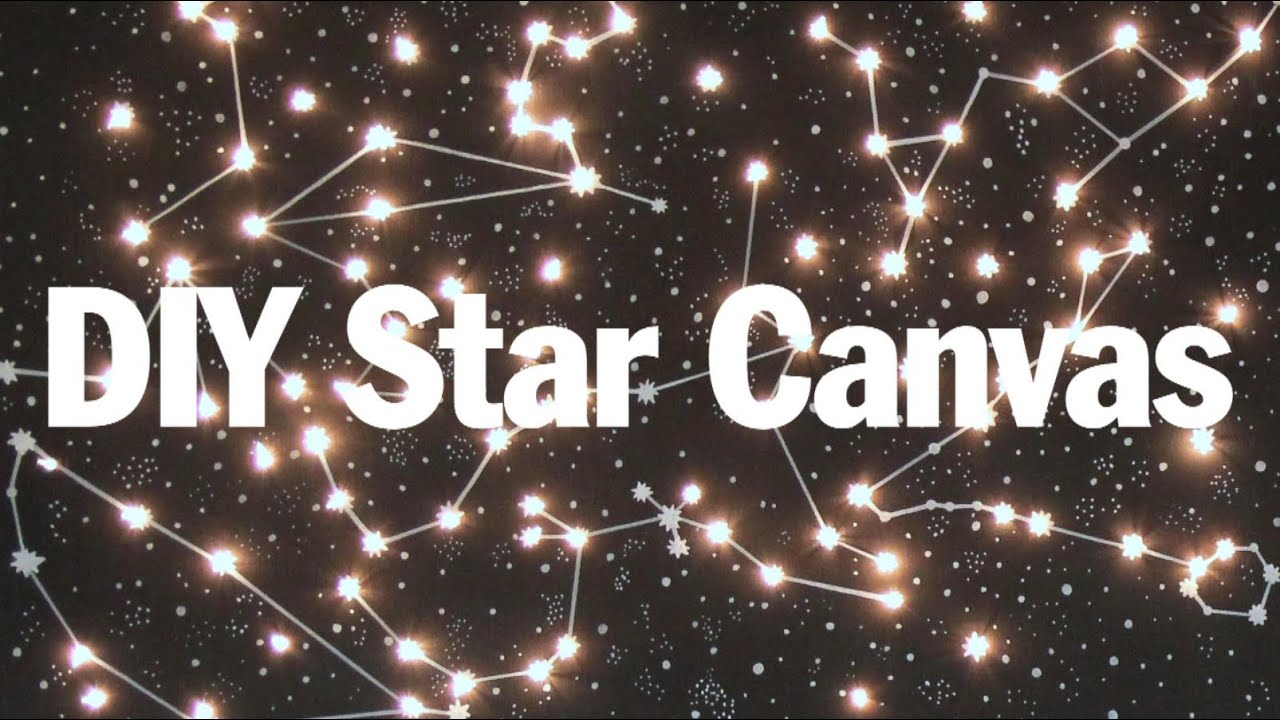 Diy Lighted Constellation Canvas So Purty Youtube Wiring Diagram 3 Way It Print