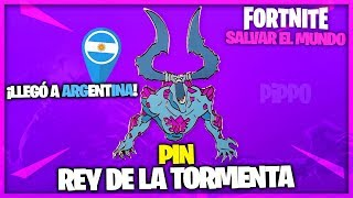 Pin Rey De La Tormenta Fortnite Salvar El Mundo Youtube