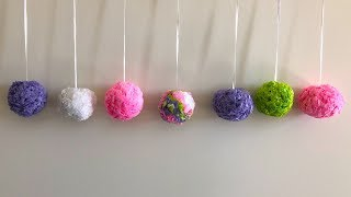 Easy tissue paper wall hanging | Easy paper decoration idea