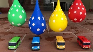 Tayo The Little Bus & Learn Colors for Children with Balloons | The Surprise For Kids