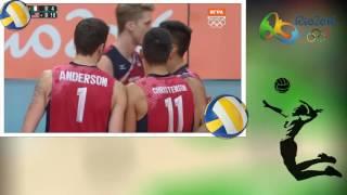 USA vs Italy Men's Volleyball Semifinals RIO 2016 Olympics