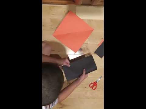 How to make a Halloween ninja star(Happy Halloween)